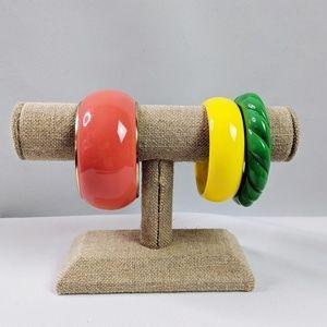 🌜3 for $25 🌛Plastic Resin Big Bangle Bracelets
